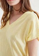 Bayan Sarı Sırt Detaylı Bluz