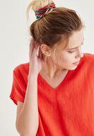 Bayan Kırmızı Sırt Detaylı Bluz