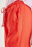 Bayan Kırmızı Bağcık Detaylı Pantolon