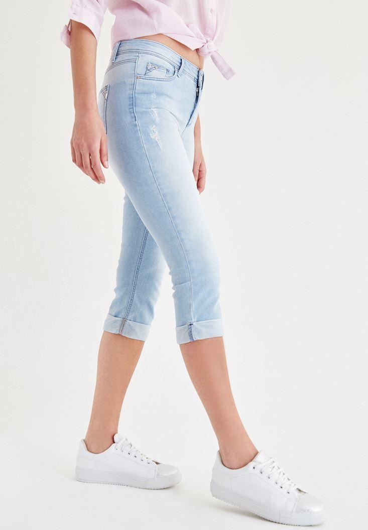 Mavi Diz Altı Jean