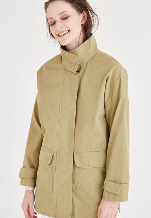 Yeşil Cep Detaylı Ceket