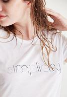 Bayan Beyaz Baskılı Tişört