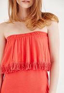 Bayan Kırmızı Straplez Elbise
