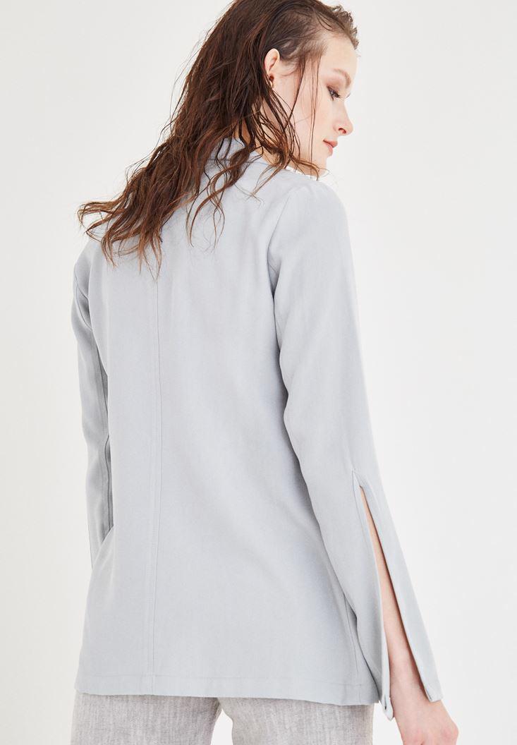 Bayan Gri Blazer Ceket