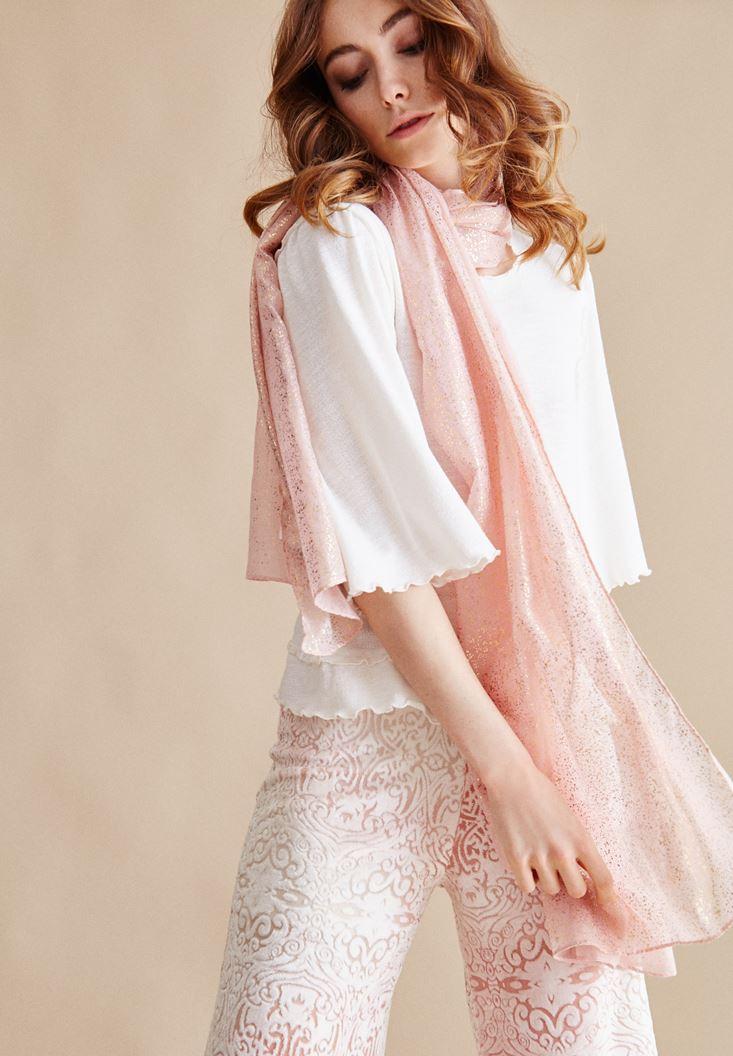 Pink Gilding Detail Shawl