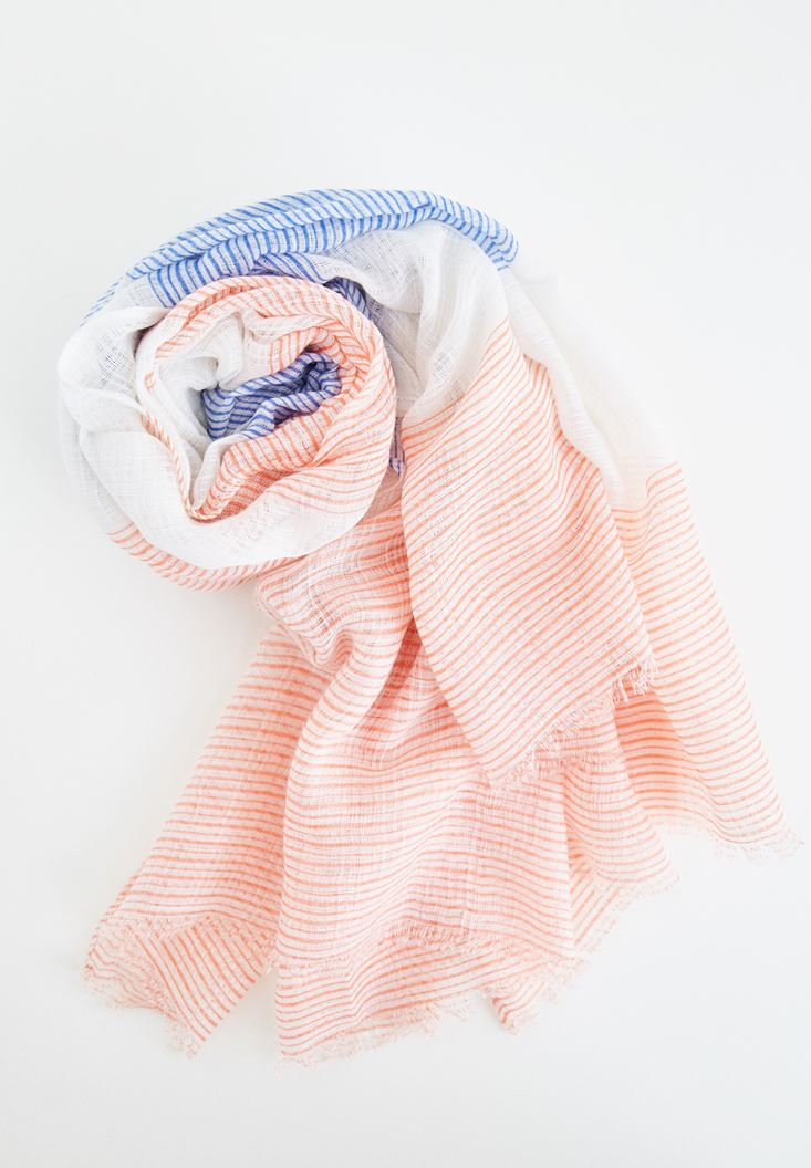 Pink Hairline Shawl