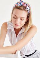 Bayan Çok Renkli Çiçekli Saç Bandı