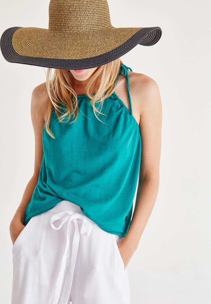 Yeşil Askılı Bluz