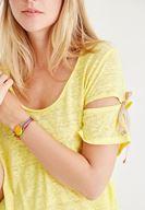 Bayan Sarı Bağlama Detaylı Tişört