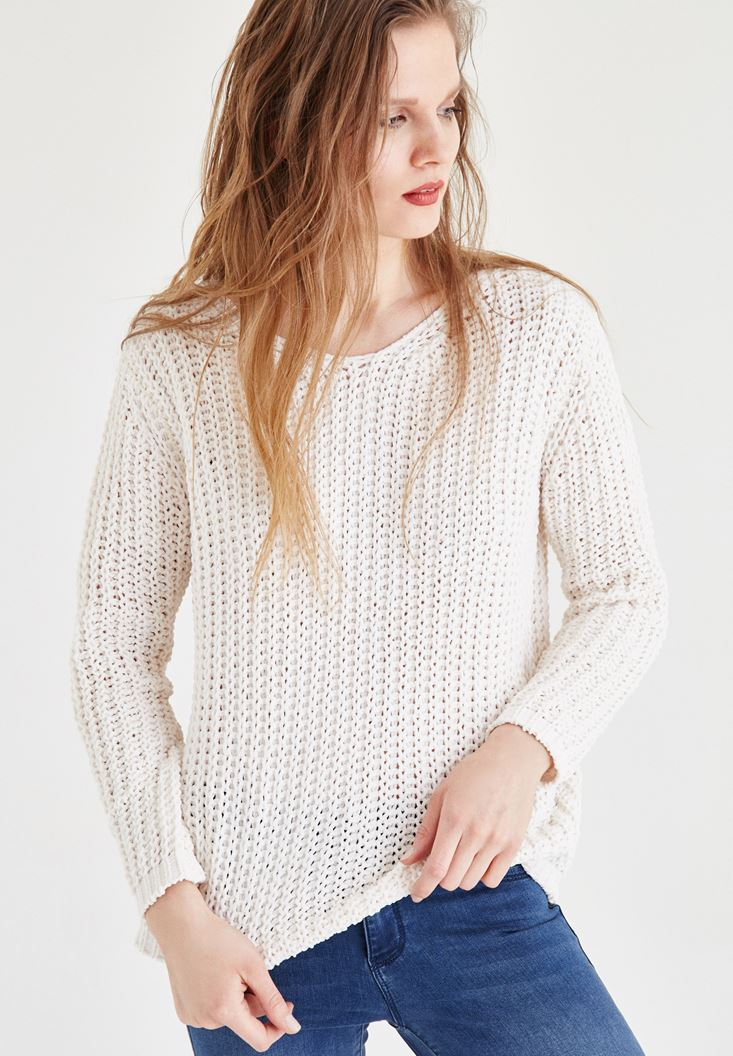 Cream Knitted Pullover