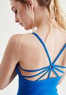 Bayan Mavi Sırt Detaylı Atlet