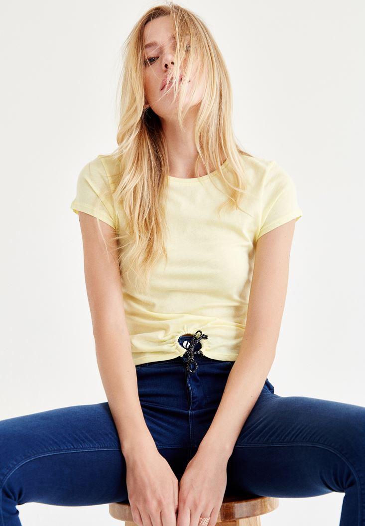 Sarı Bağlamalı Tişört