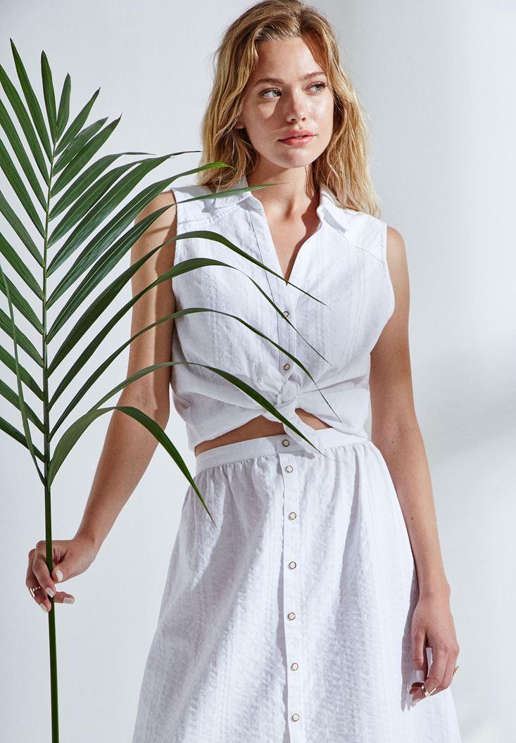 Beyaz Kolsuz Gömlek