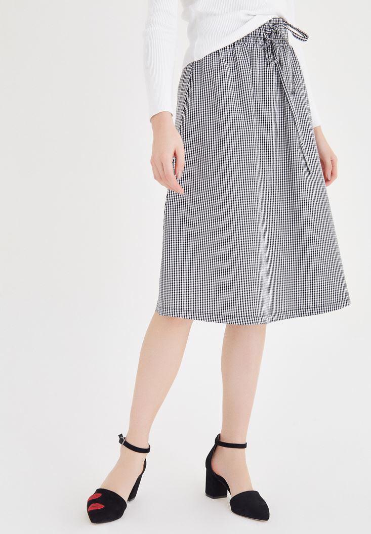 Women Mixed Midi Skirt