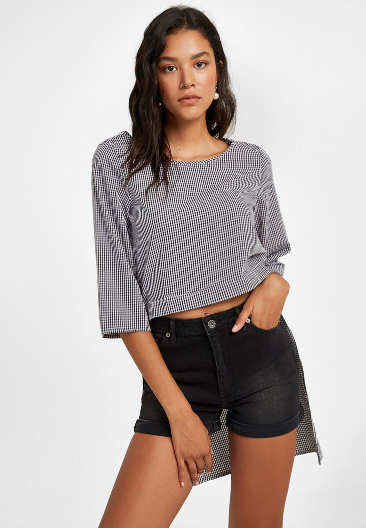 Mixed Checked Blouse