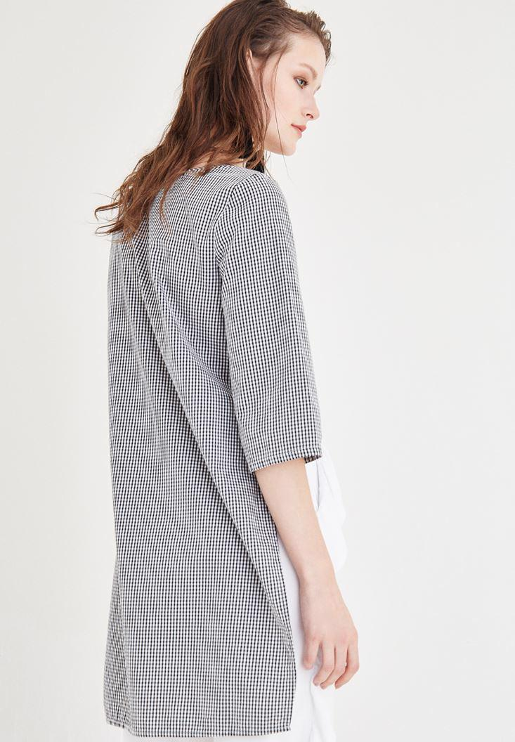 Women Mixed Checked Blouse