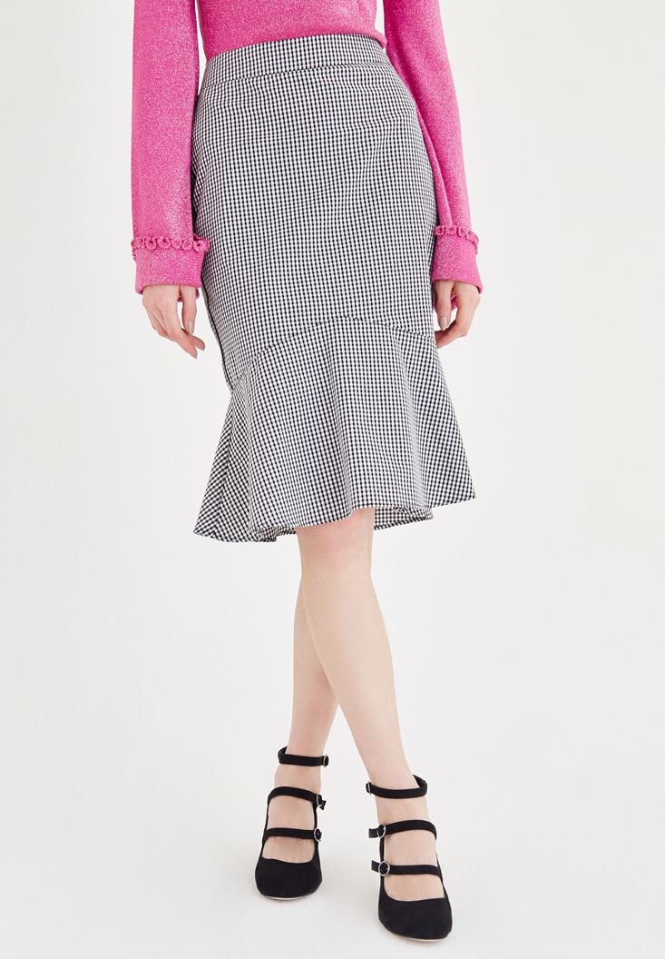 Mixed Skirt With Frilled Detail