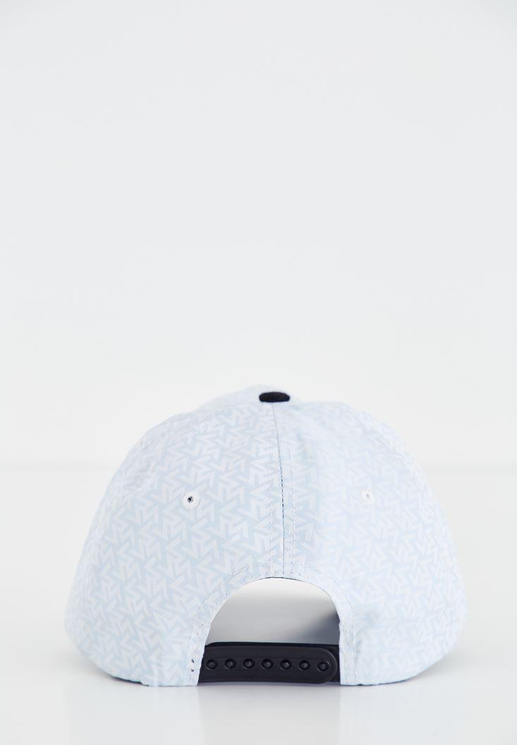 Bayan Mavi Sloganlı Şapka