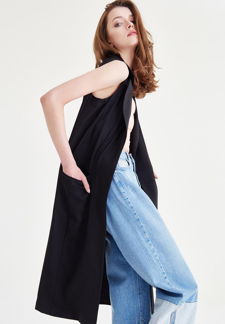 Siyah Uzun Yelek