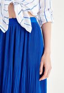 Bayan Mavi Pilili Etek