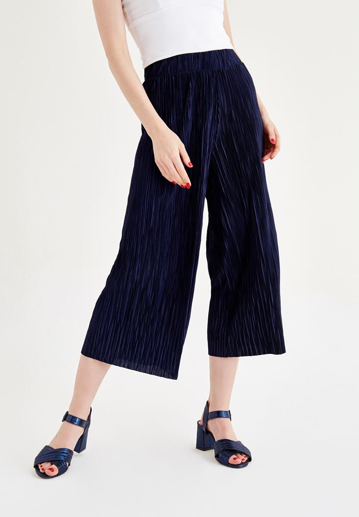 Siyah Pilili Pantolon