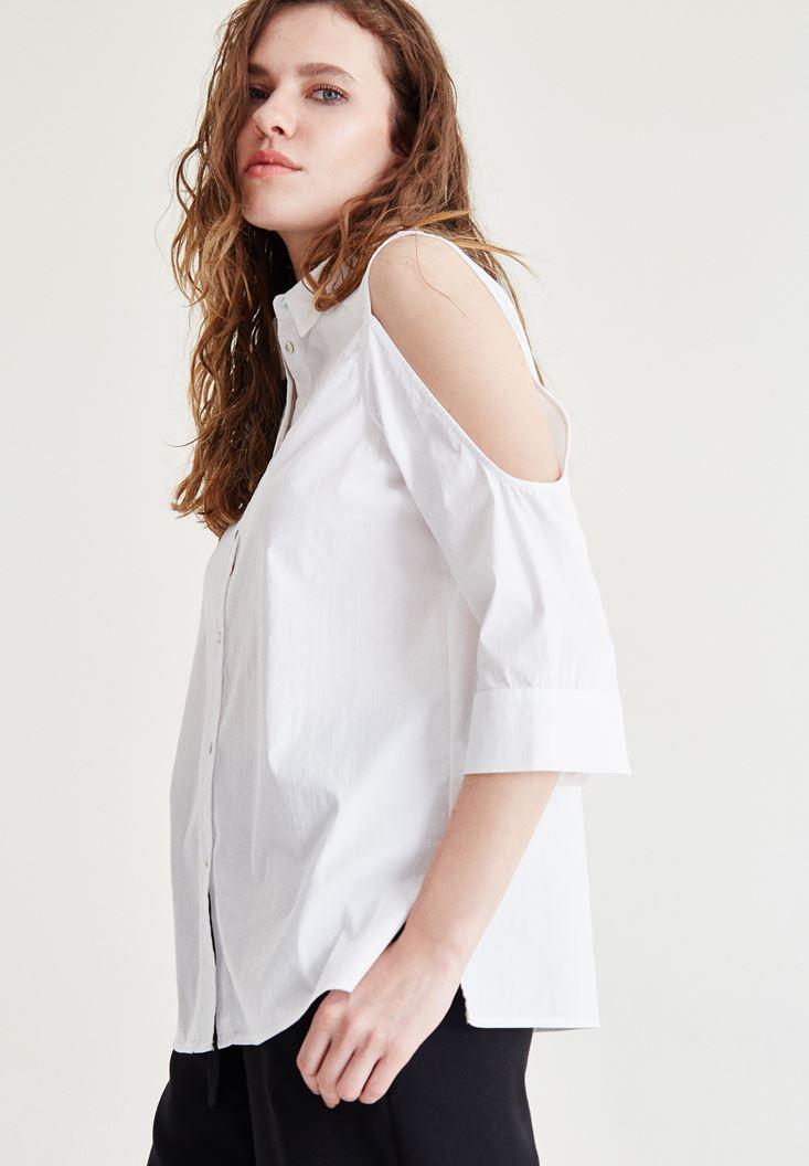 Omuz Detaylı Gömlek