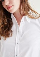 Women White Shirts With Shoulder Detailed