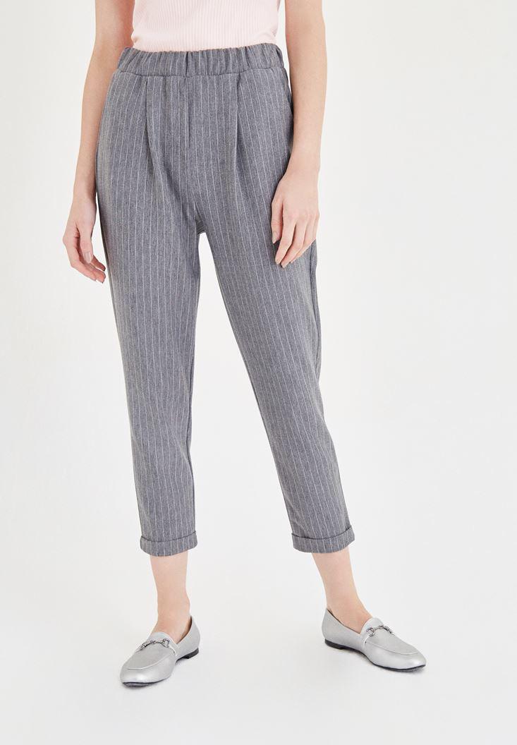 Çizgili Havuç Pantolon