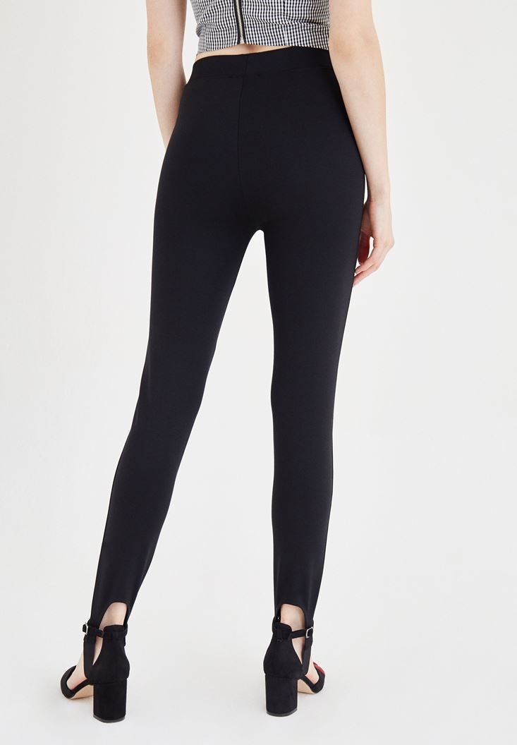 Bayan Siyah Füzo Pantolon