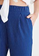 Women White Stripped Pants