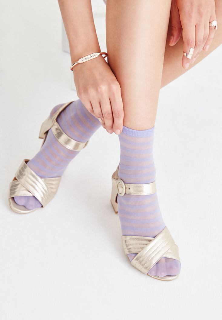 Purple Stripped Socks