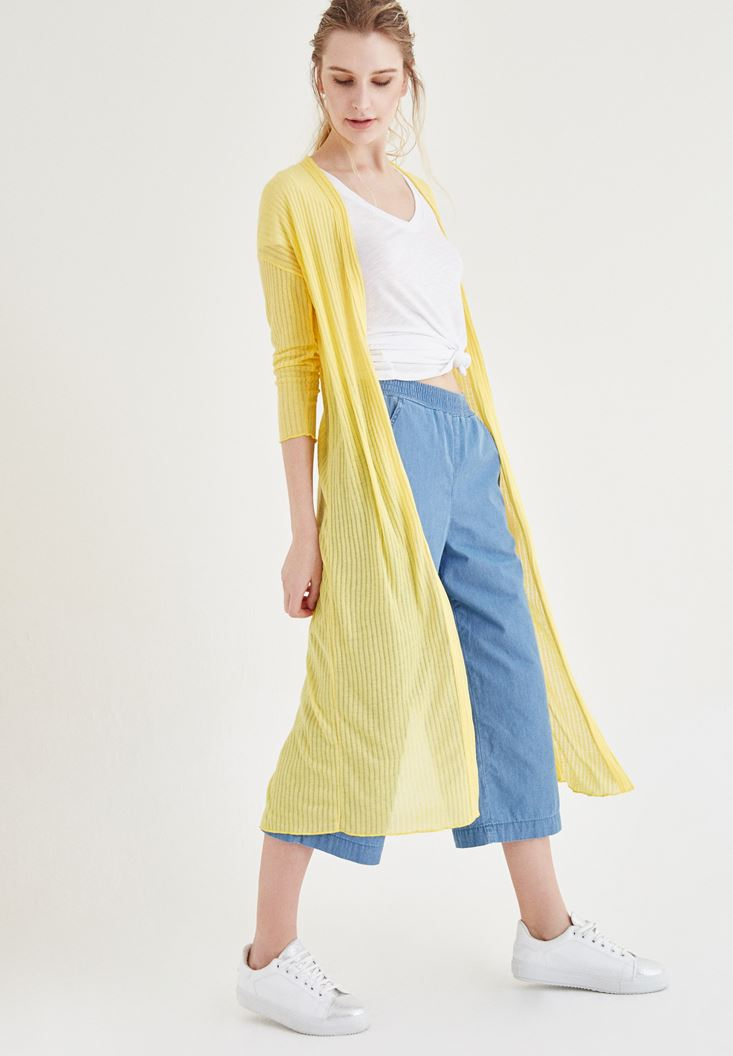 Yellow Long Cardigan