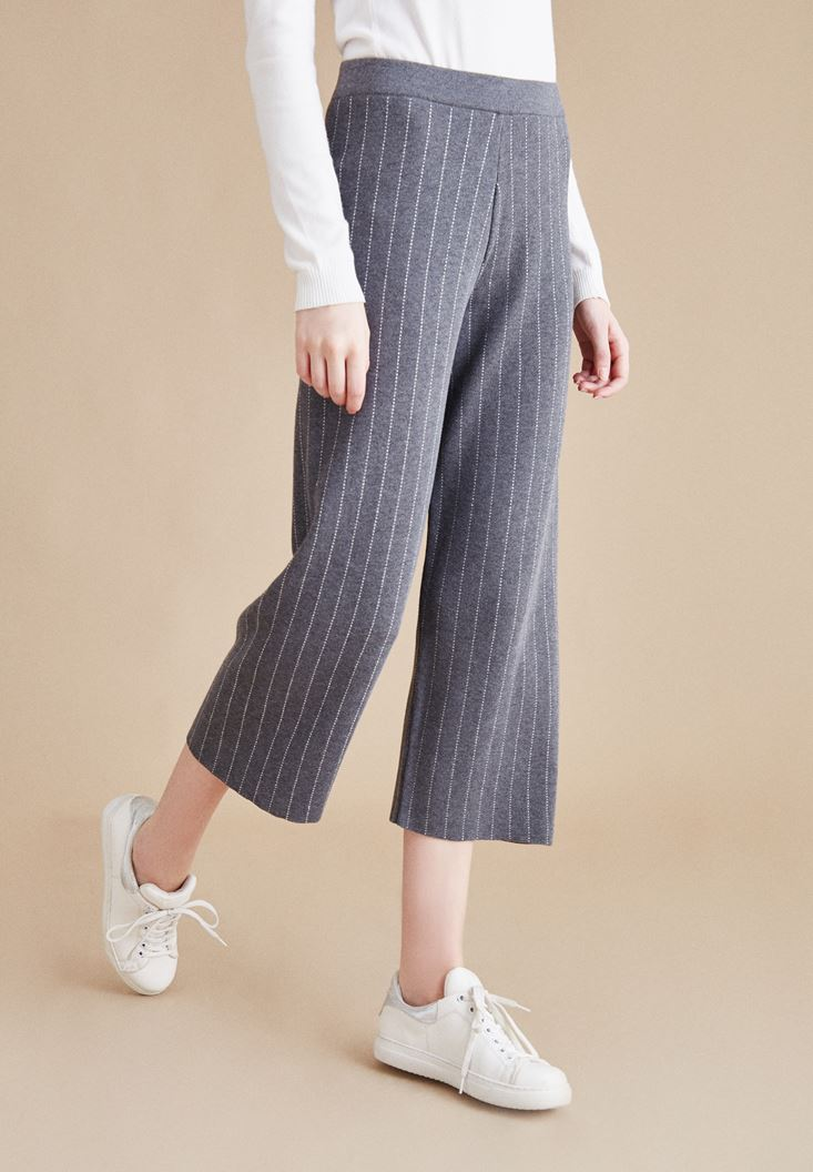 Gri Çizgili Pantolon