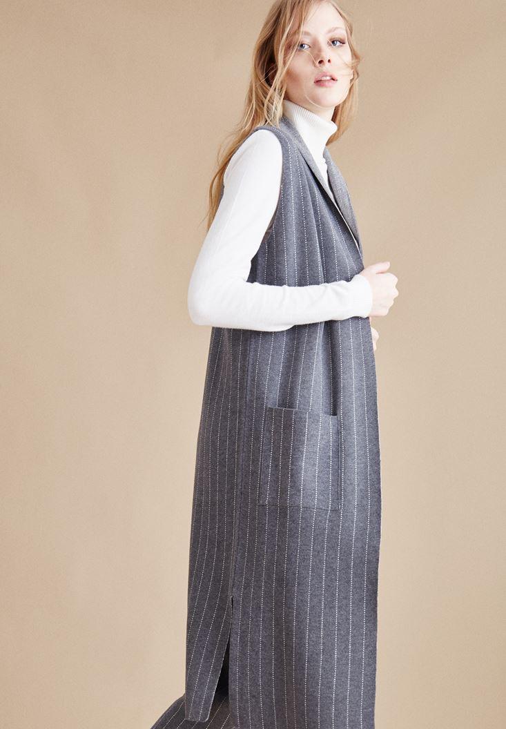 Grey Stripped Vest