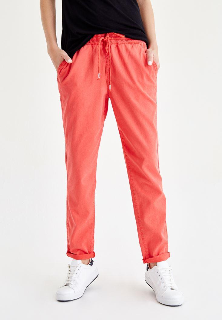 Kırmızı Bol Pantolon