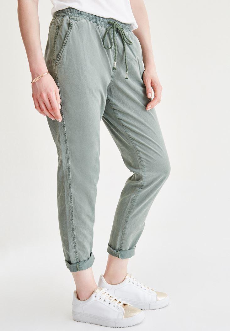 Yeşil Bol Pantolon