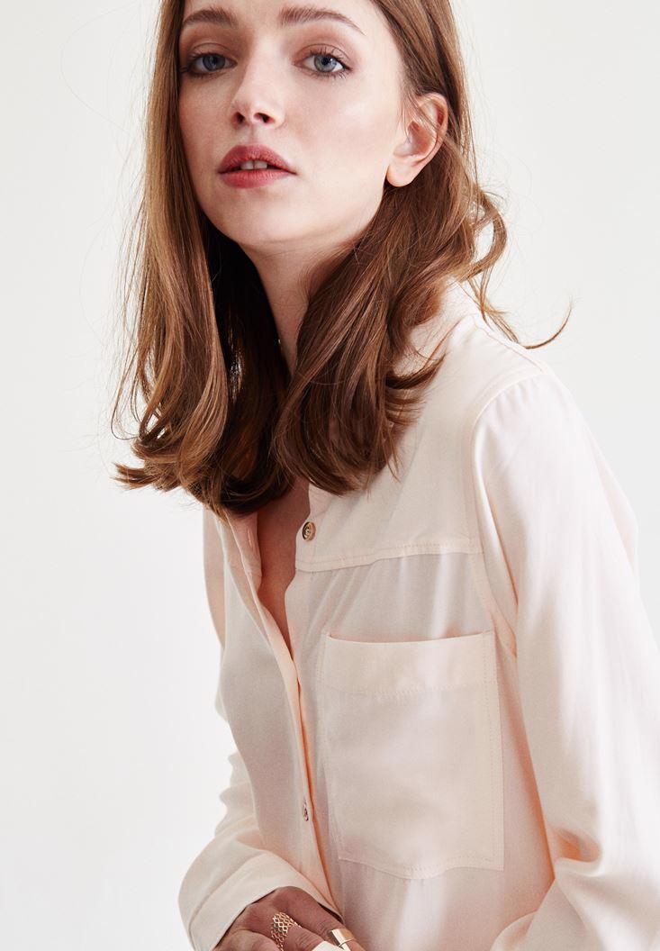 Women Orange Long Shirt