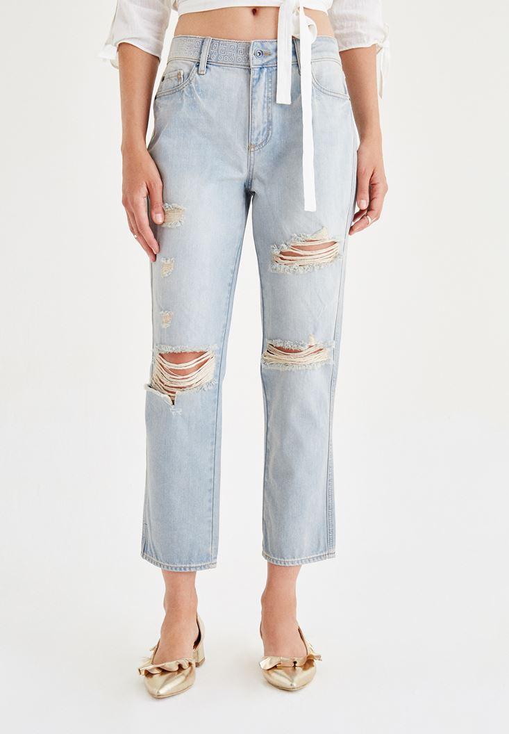 Mavi Bol Denim Pantolon