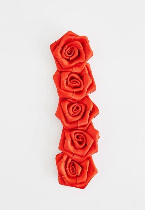 Kırmızı Çiçekli Saç Bandı