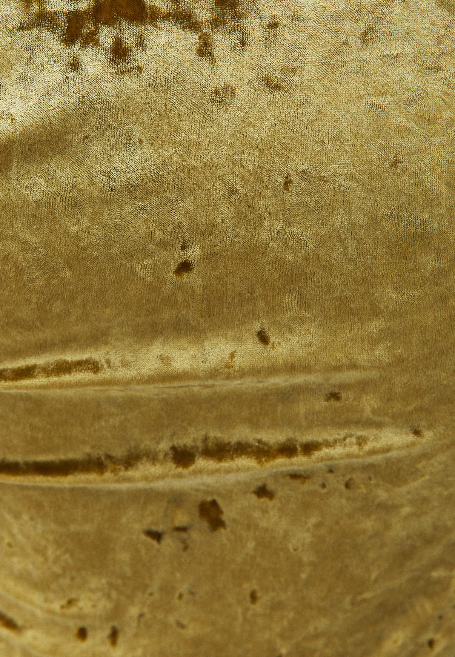 Bayan Yeşil V Yaka Kadife Bluz