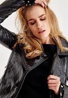 Bayan Siyah Rugan Ceket