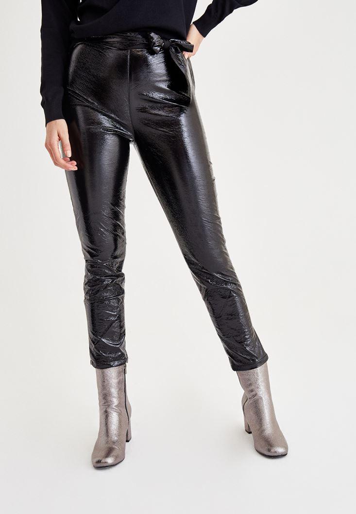 Siyah Rugan Pantolon