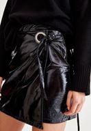 Bayan Siyah Rugan Mini Etek