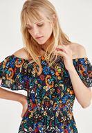 Bayan Çok Renkli Desenli Elbise