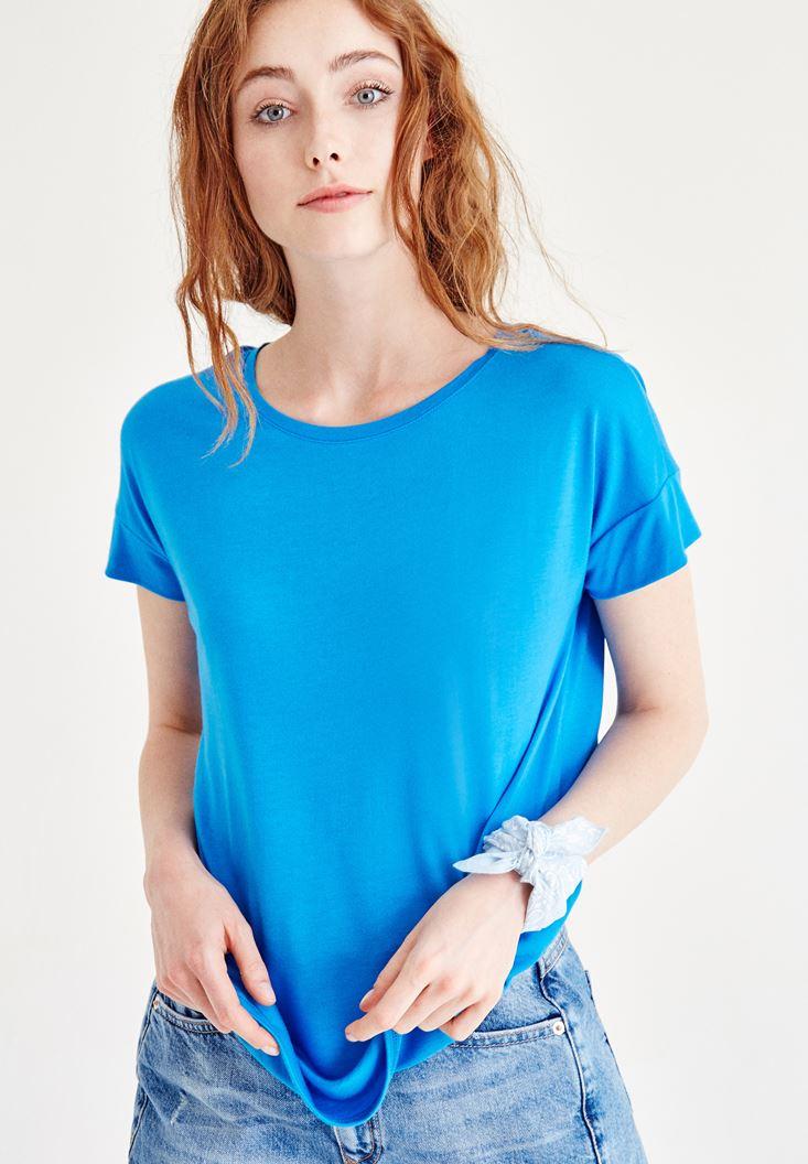Mavi Bisiklet Yaka Basic Tişört