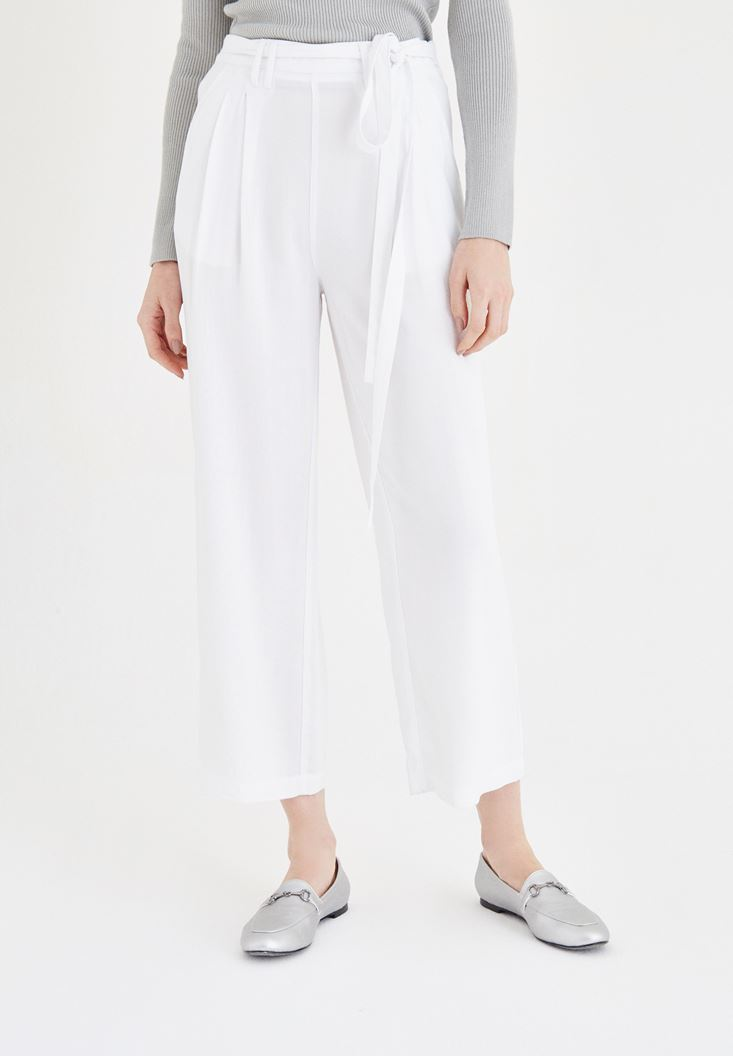 White Loose Pants