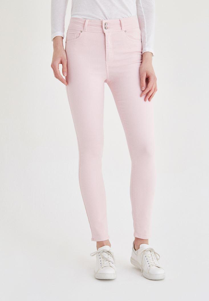 Yüksek Bel Skinny Pantolon OXXO