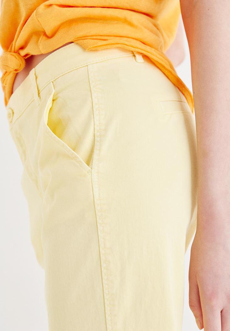 Women Yellow Straight Cut Pants