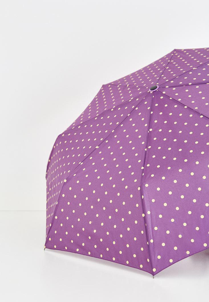 Çok Renkli Puantiyeli Şemsiye