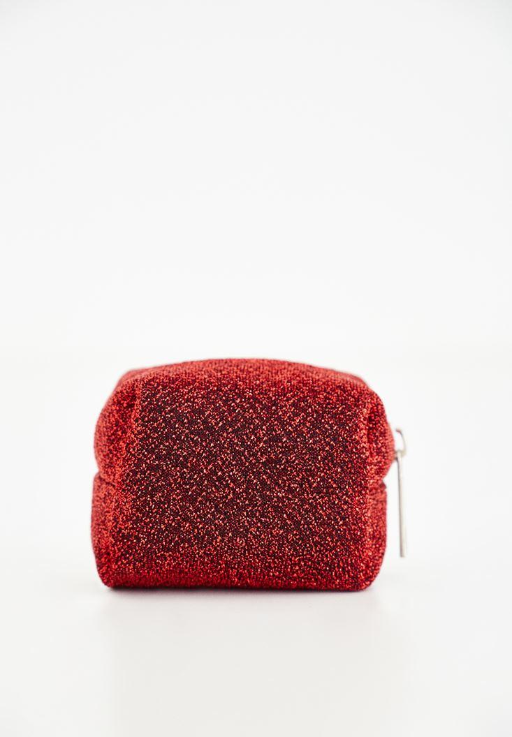 Bayan Kırmızı Sim Detaylı Küçük Cüzdan